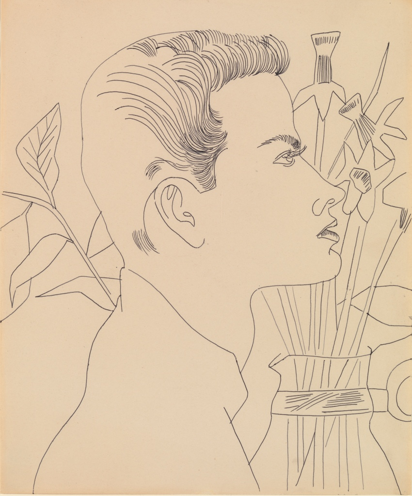 Boy with Flowers by Andy Warhol