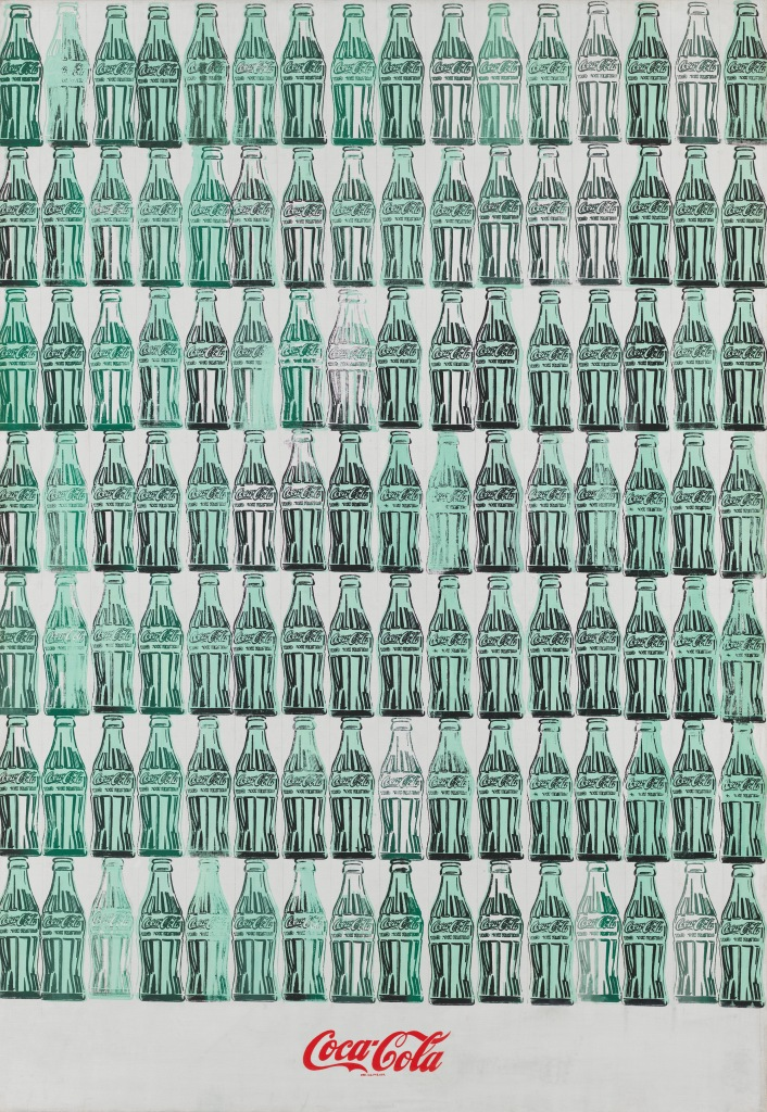 Green Coca-Cola Bottles by Andy Warhol