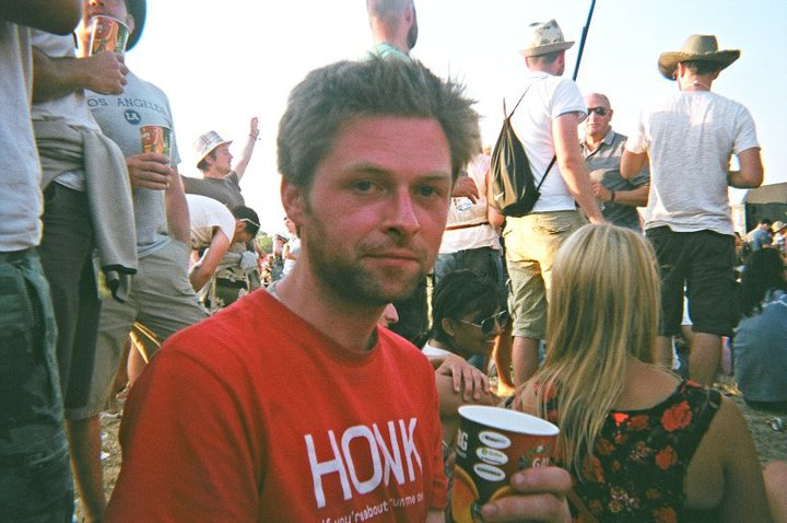 Unshaven at Glastonbury
