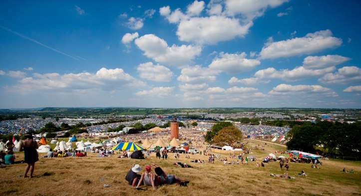 The Glastonbury Festival site goes on for miles