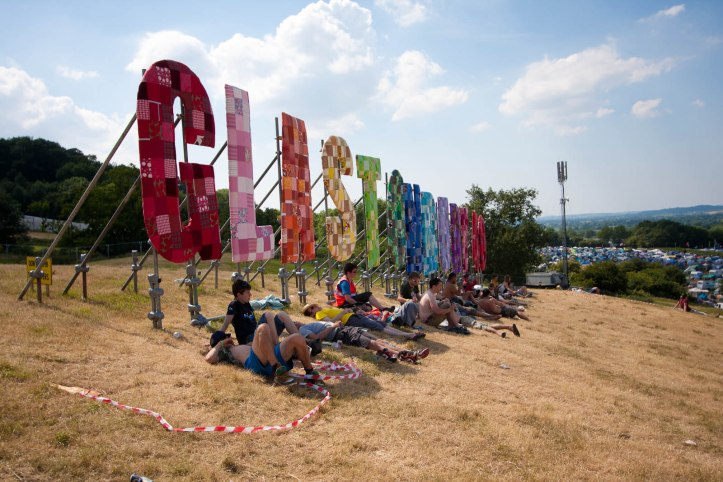 The Glastonbury sign