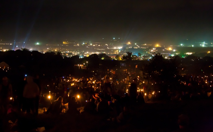 Sunday night at Glastonbury Festival by Russ Garrett