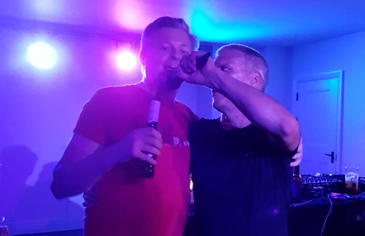 Bez from Happy Mondays DJ'ed at the Fellowship and Star in Bellingham