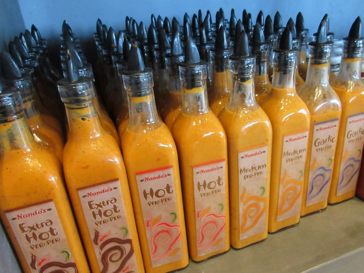 Lots of Nando's sauces by Roberrific