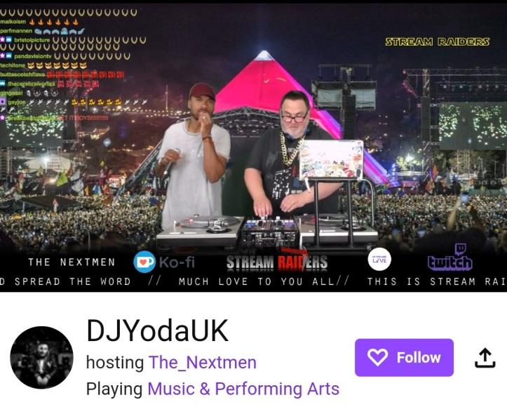The Next Men playing in DJ Yoda's stream