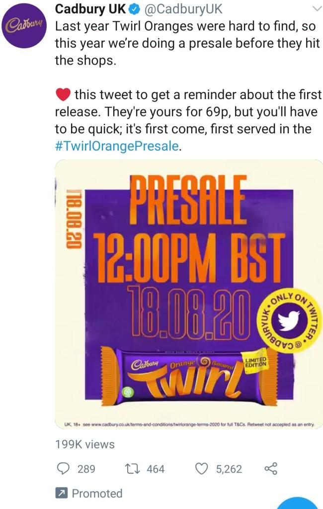 Twirl tweet