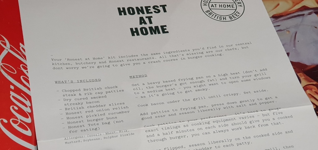 Honest at Home instructions