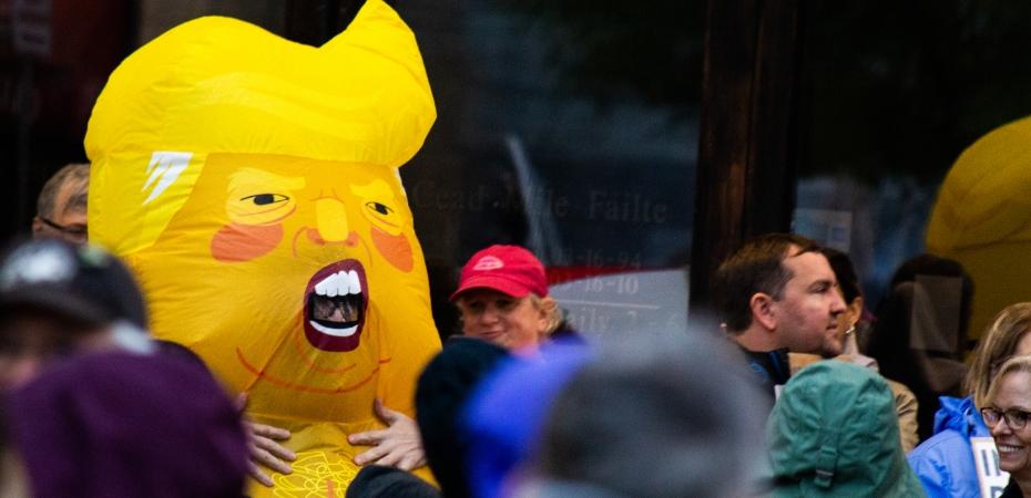 Anti-Donald Trump protesters