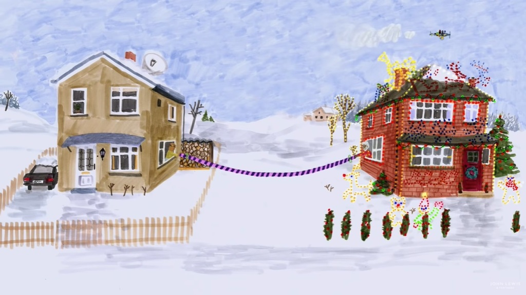 Social distancing on the John Lewis Give a Little Love Christmas advert