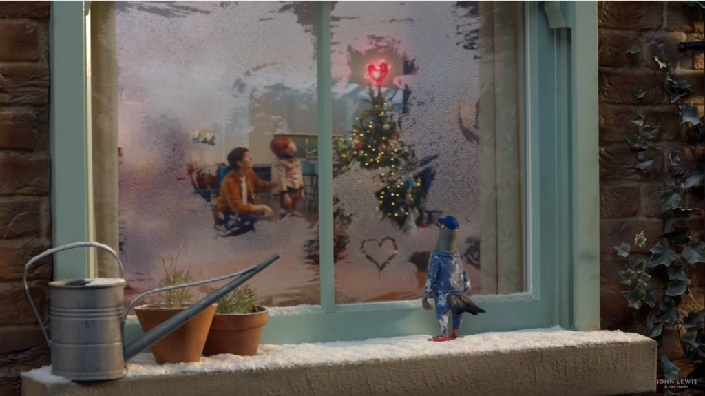 There's a heart on the Christmas tree in the John Lewis Give a Little Love Christmas advert