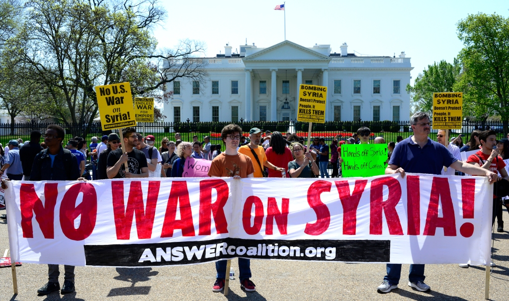 War on Syria protest