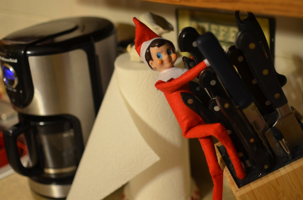 Elf on a Shelf Misbehaving by Michael Kappel
