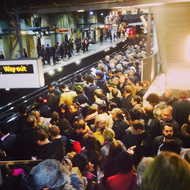 Rush Hour at Farringdon Tube, London, UK