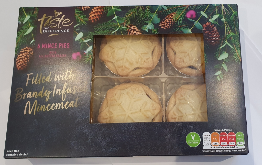 This box of Sainsbury's Taste the Difference mince pies costs £1.50