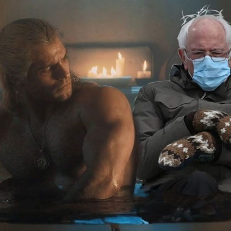 Geralt and the Senator Bernie in the Bath by @Hey_Davy