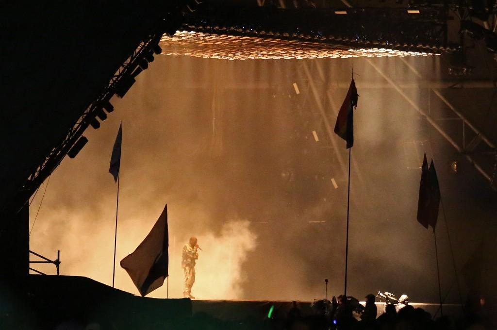 Kanye West at Glastonbury