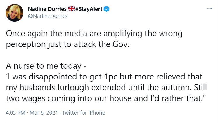 Nadine Dorries tweet