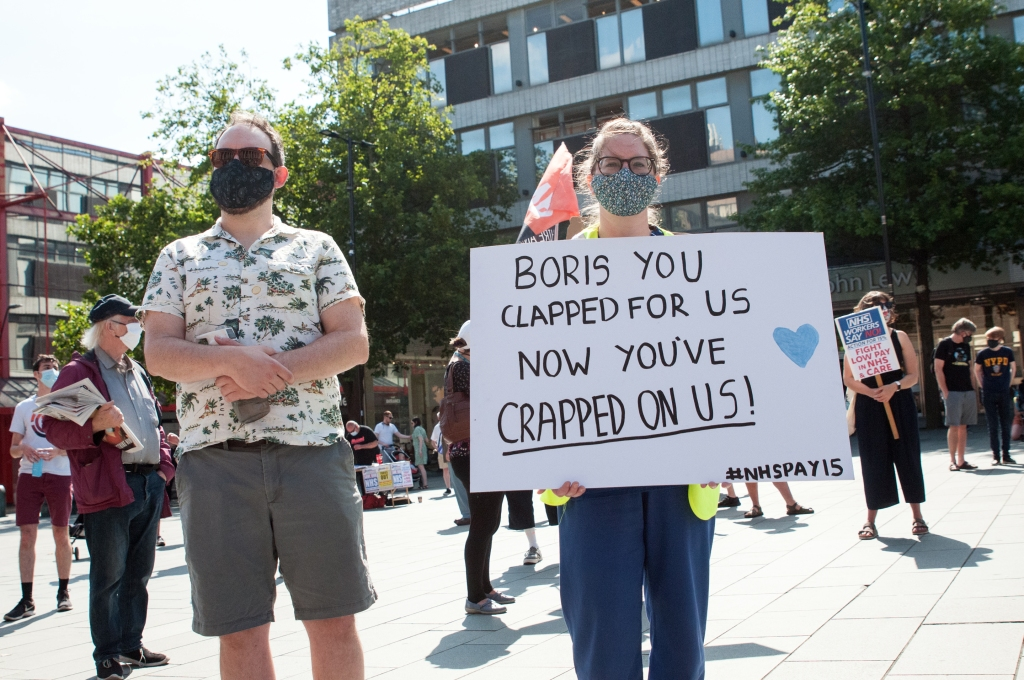 NHS nurses protest 2