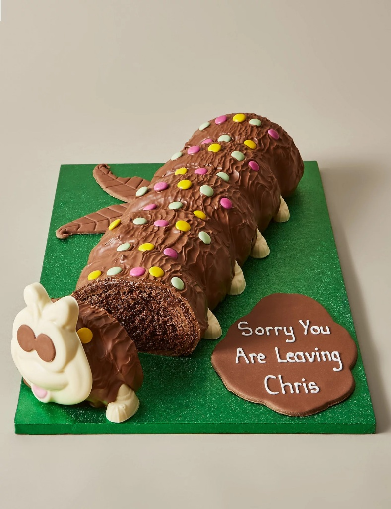 Colin the Caterpillar personalised cake