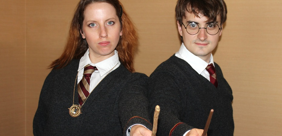 Hermione and Harry from Harry Potter