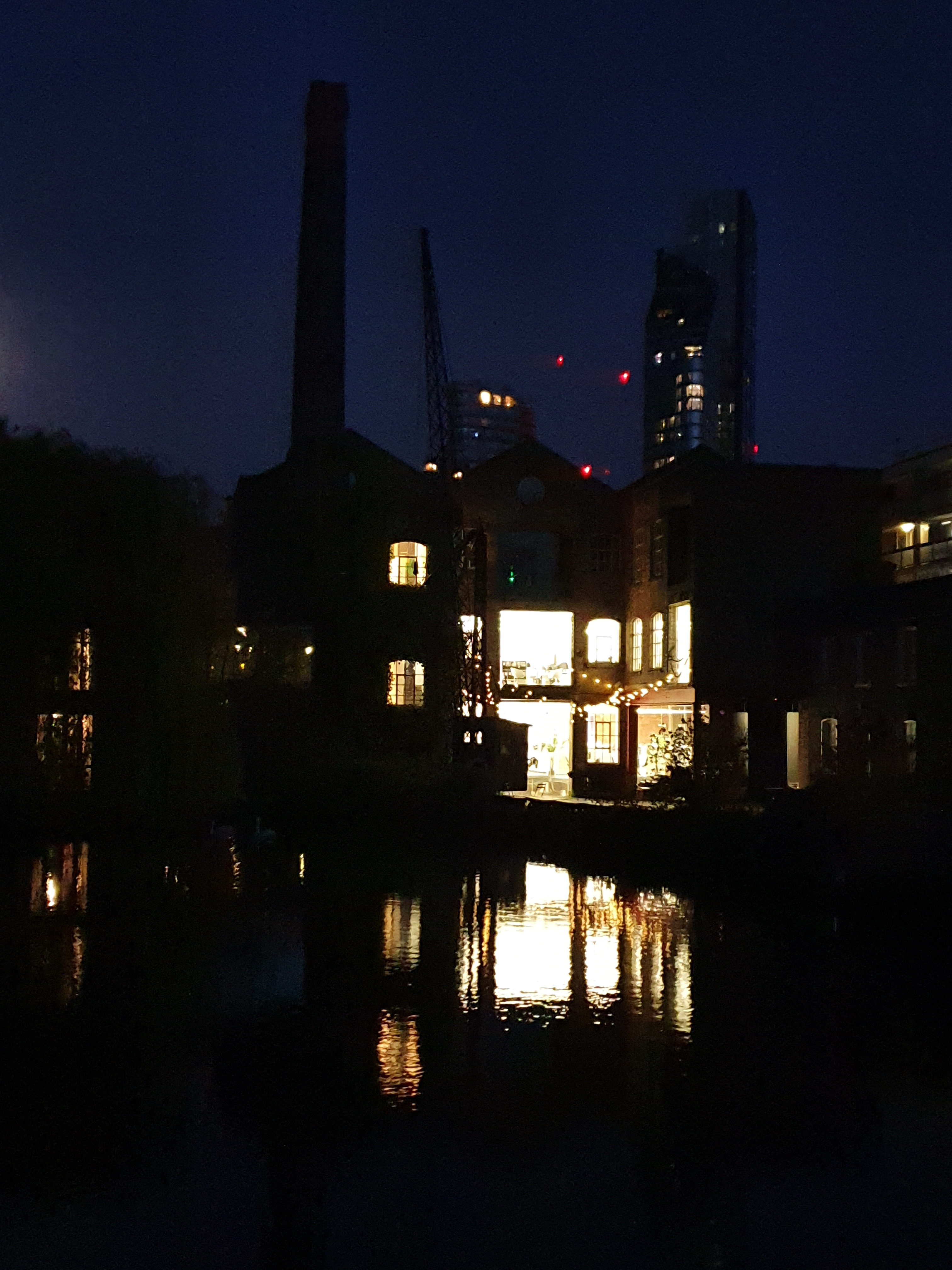 A mix of the old and the new, canalside