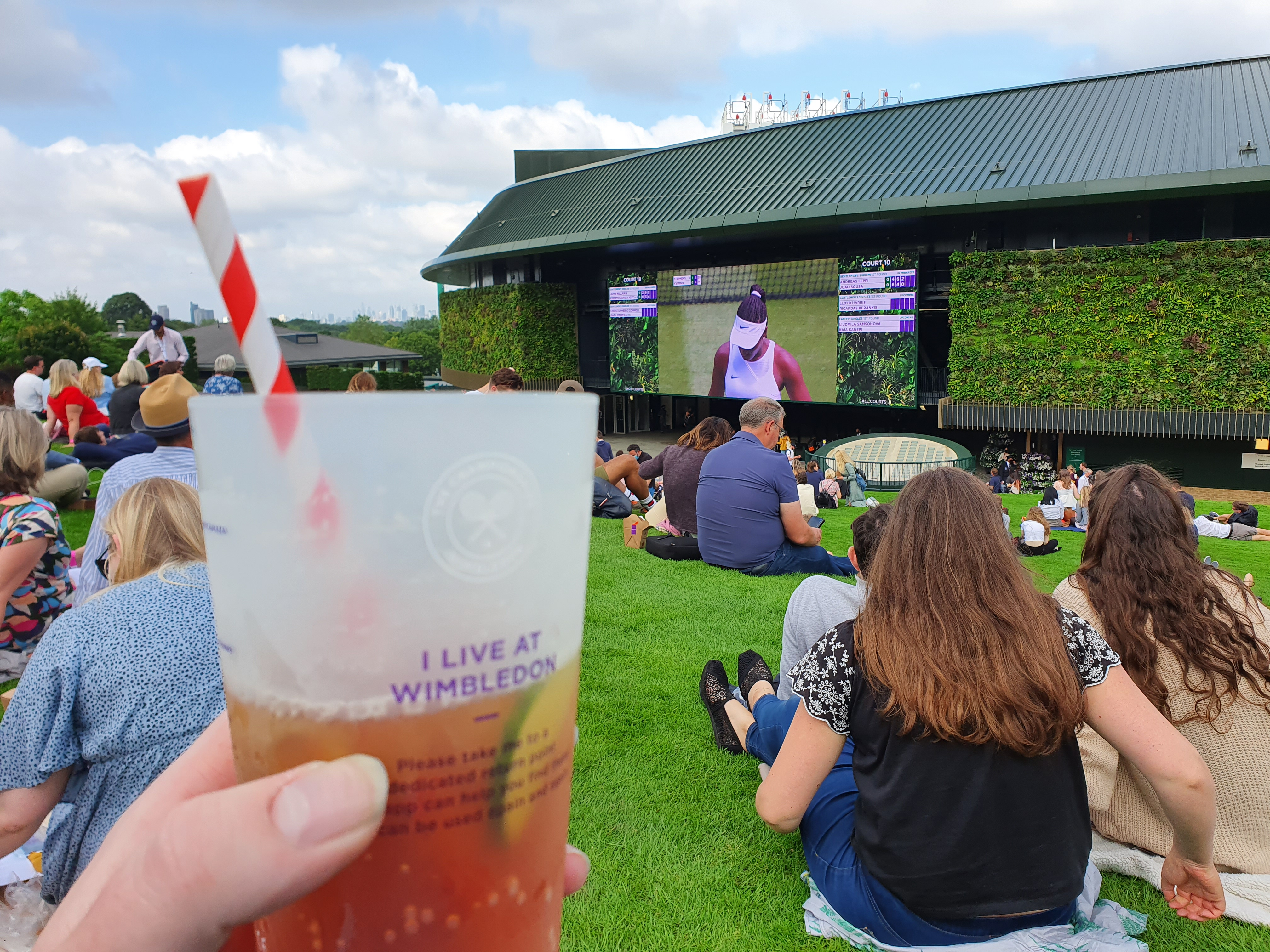 Pimms on Henman Hill